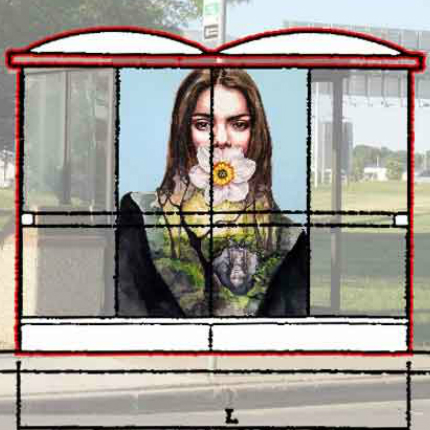 Bus Shelter Art Stops