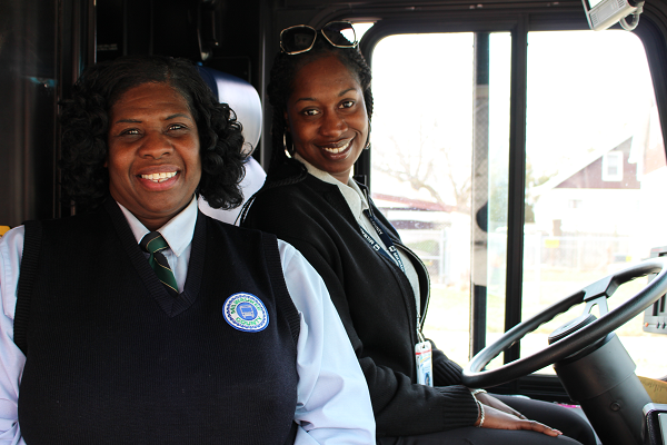 MCTS Drivers Jeannie Mitchell and Precious Bolden
