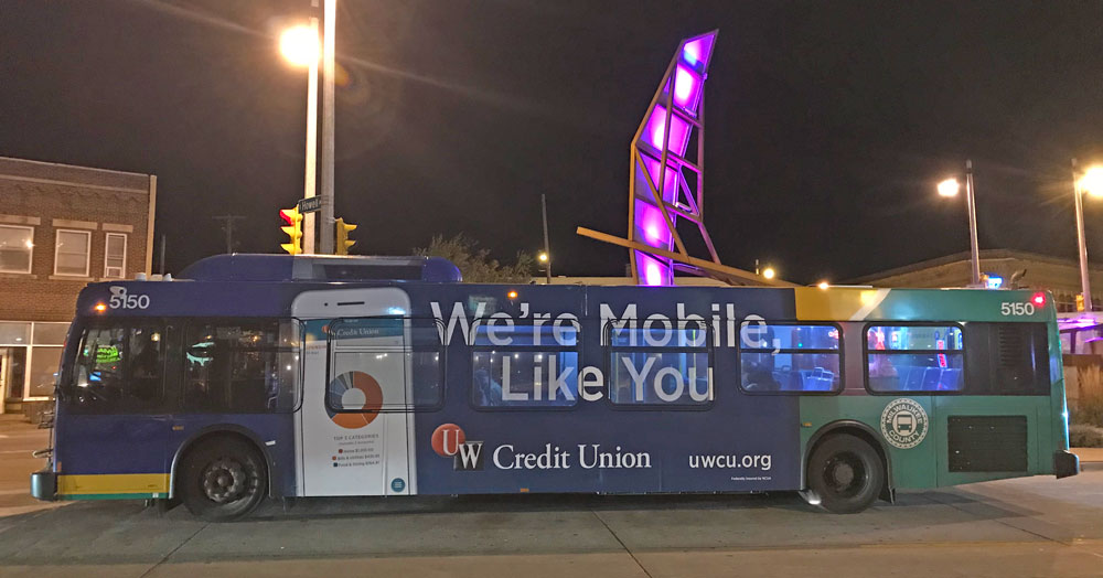 MCTS Bus at Night