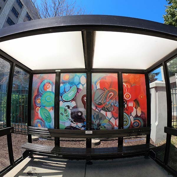 Abstract Bus Shelter Art