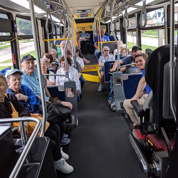 Senior Citizens on a bus