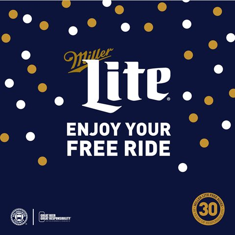 Ring in the New Year with Miller Lite Free Rides