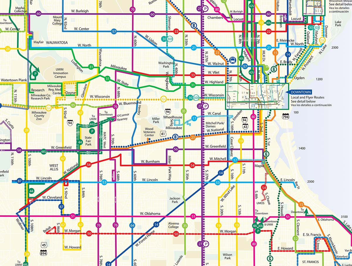 Ride MCTS System Map