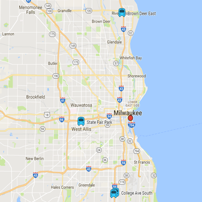 Ride MCTS Routes Schedules - Milwaukee on us map